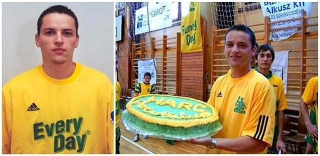 Bakó Botond 2004-ben orosházi játékosként és az ifjúsági bajnokcsapat edzőjeként (Fotó: OFKSE.hu)